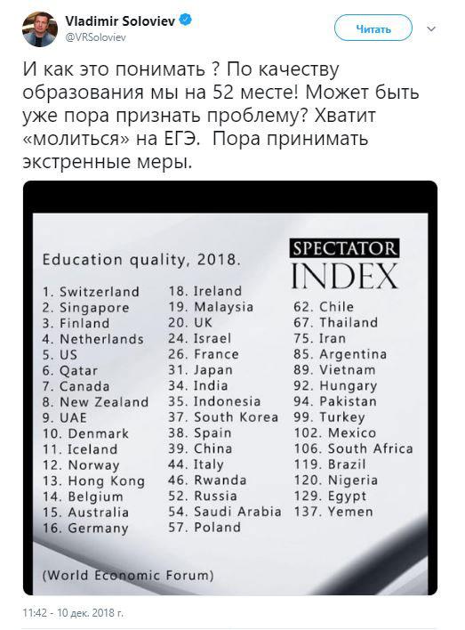 Что делать с качеством образования? Справится ли Ольга Васильева?