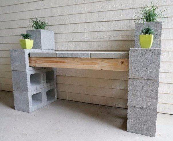 Оригинальное применение бетонных блоков