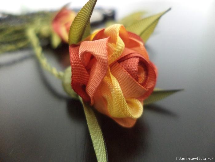 Миниатюрные цветы из ленточек. Мастер-классы (14) (700x525, 204Kb)