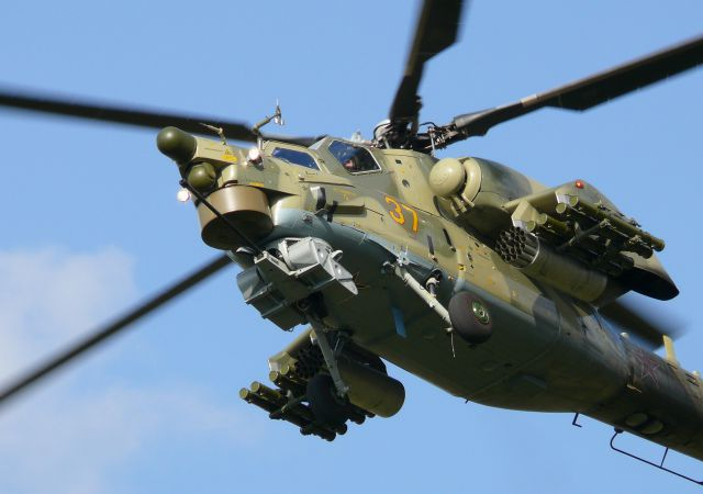 В ЮВО начали поступать вертолёты Ми-28Н