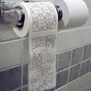 19. Туалетная бумага с судоку новый год, подарки, приколы