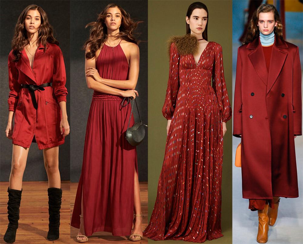 Модные цвета в одежде осень-зима 2018-2019 года