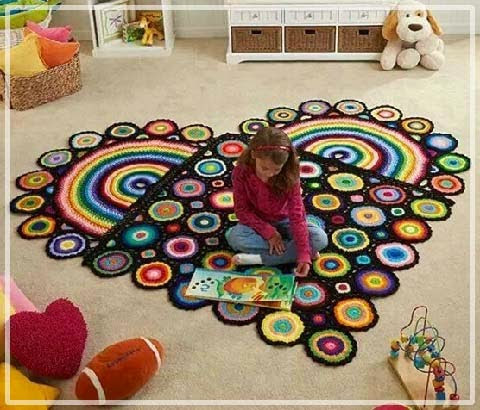 Детские коврики круглые своими руками