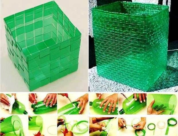 How to Weave Plastic Baskets from Plastic Bottles