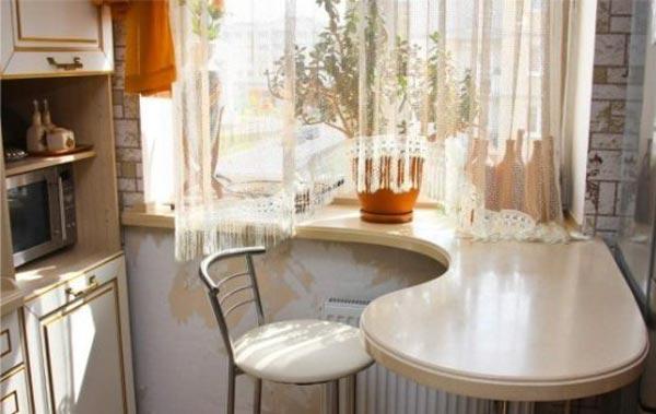 шторы аркой фото на кухню