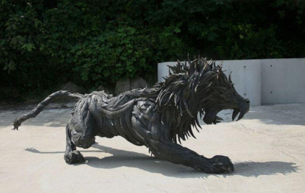 Умопомрачительные Скульптуры из покрышек