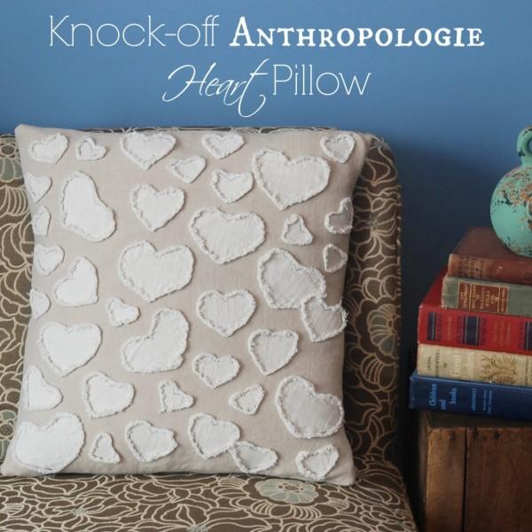 Узнайте, как сделать этот $ 198 сердца подушку из антропологии менее чем за $ 10!
