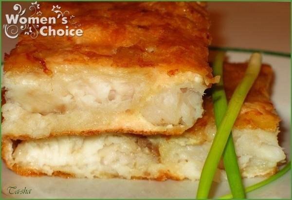 Рыба в сырном суфле.