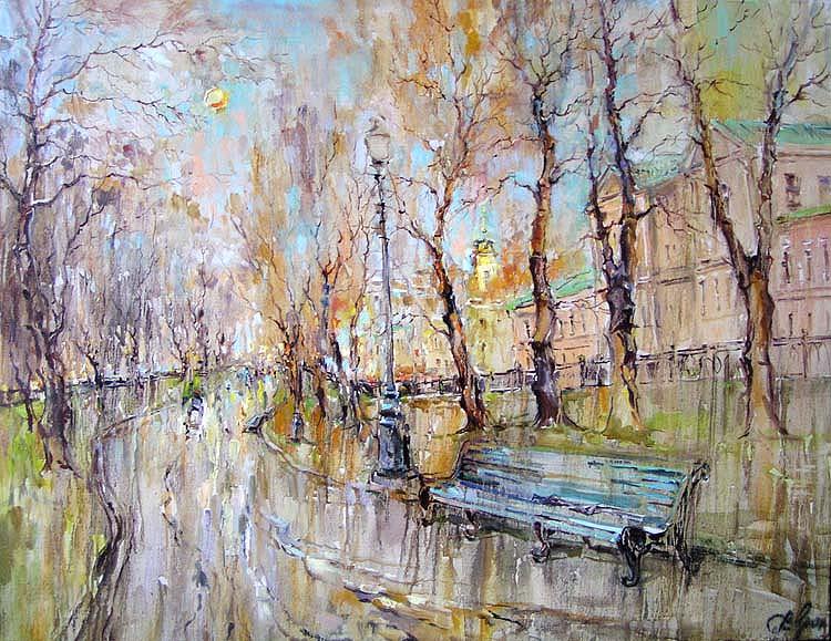 Приходи в старый двор помолчать... Московские чудо-пейзажи Чариной Анны