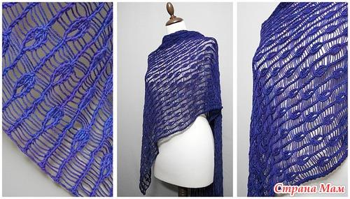 Нашла красивый шарф-делюсь: