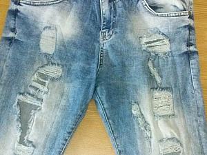 Реставрируем джинсы.