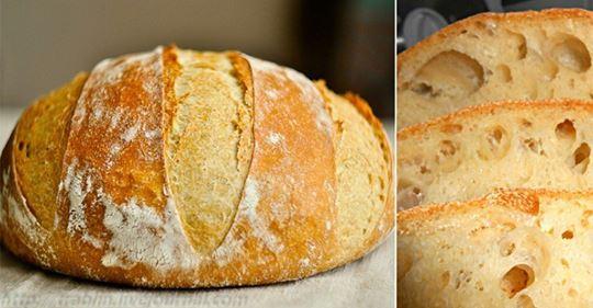 Пышный и душистый домашний хлеб без замеса!