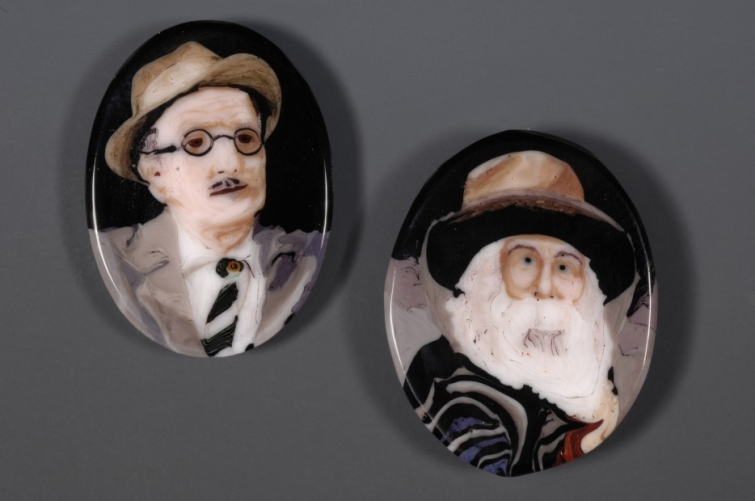Картины из стекла техника Murrine, Лорен Стамп Loren Stump