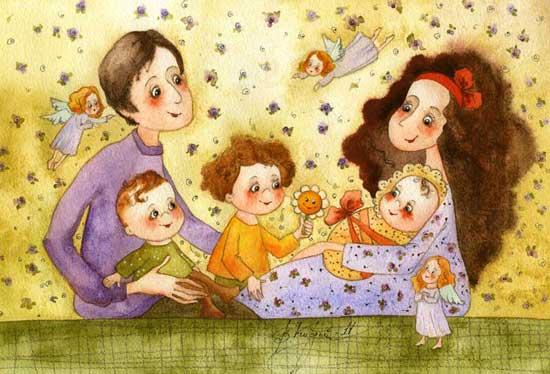 красивая открытка для многодетной семьи аренде домов