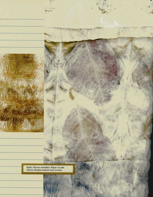 """""""Eco print"""" -книга про окраску ткани растениями"""