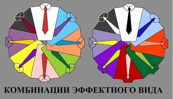 Для любителей выглядеть не только ярко, но и грамотно: цветовые комбинации рубашки и галстука