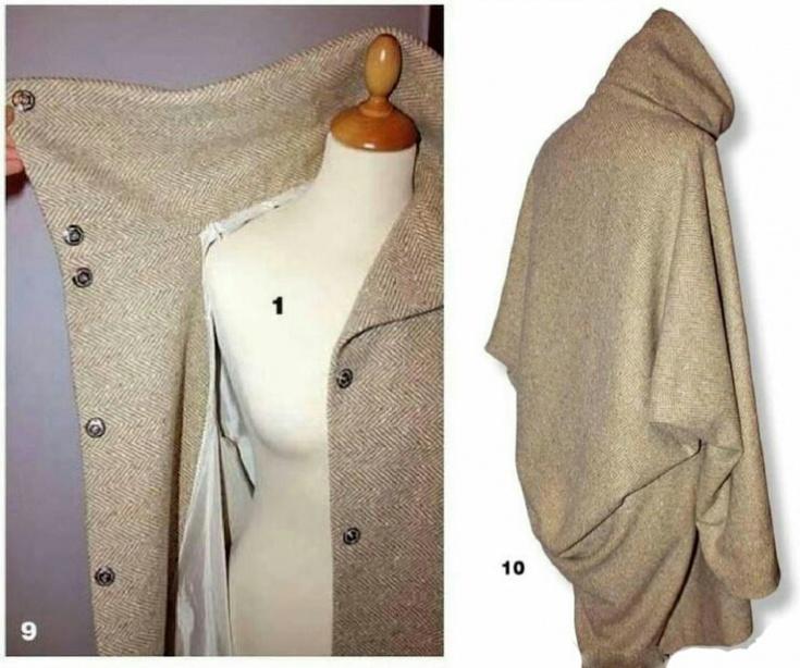 Выкройка объёмного пальто