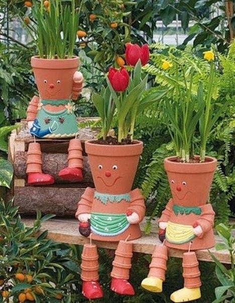 Подделки своими руками для сада дачи