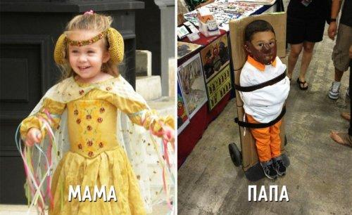 Мамы vs. папы: воспитание детей