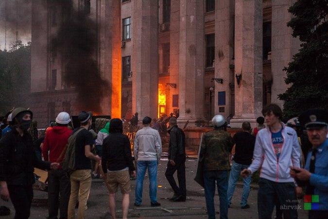 Преподаватель ударил студента-нациста, сжигавшего людей в Одессе