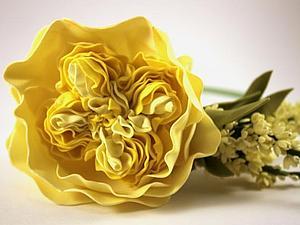 Пионовидная роза из фоамирана