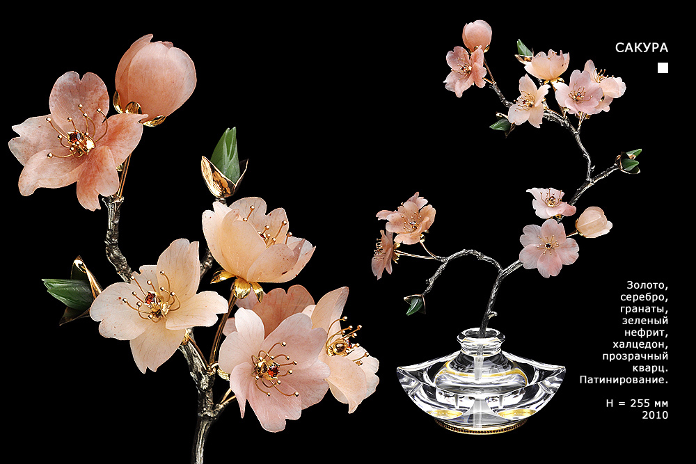 Фото цветов из драгоценных камней