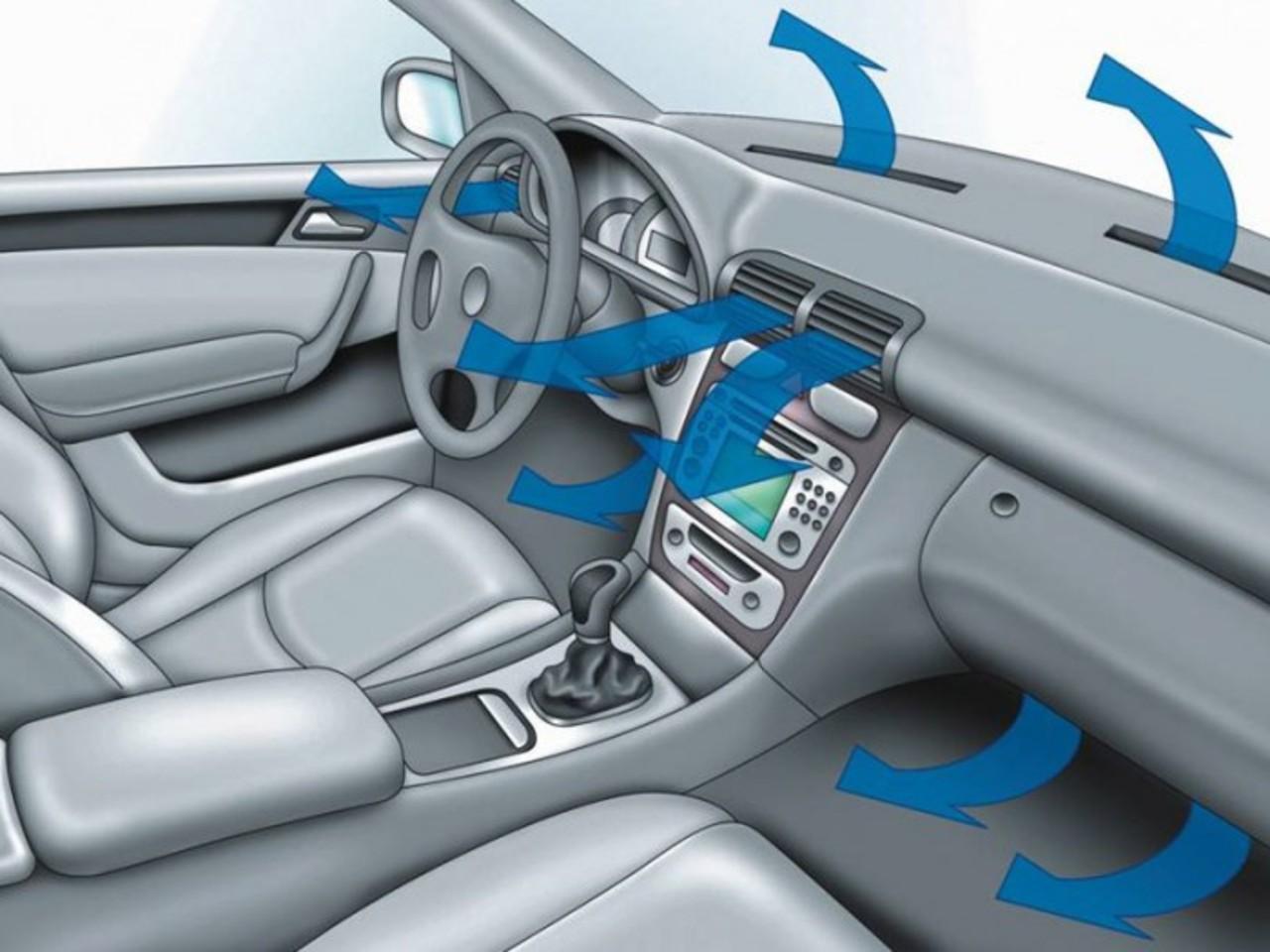 Где находится температура в машине