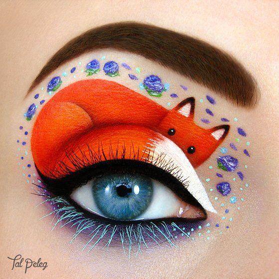 Глаза как холст: художница использует свои веки, чтобы рисовать на них сказочные картины и узоры