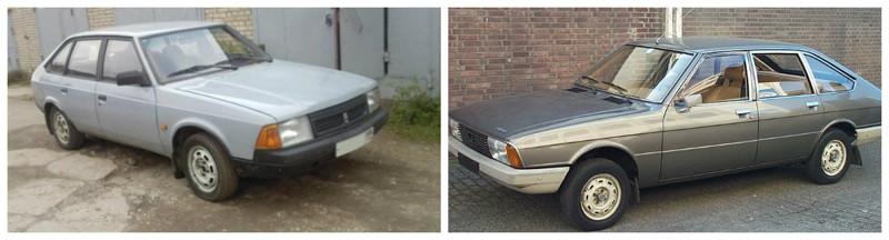 Москвич- 2141(1986-1998)-Simca-Chrysler 1308(1975-1980) автомобили, история, ссср, факты