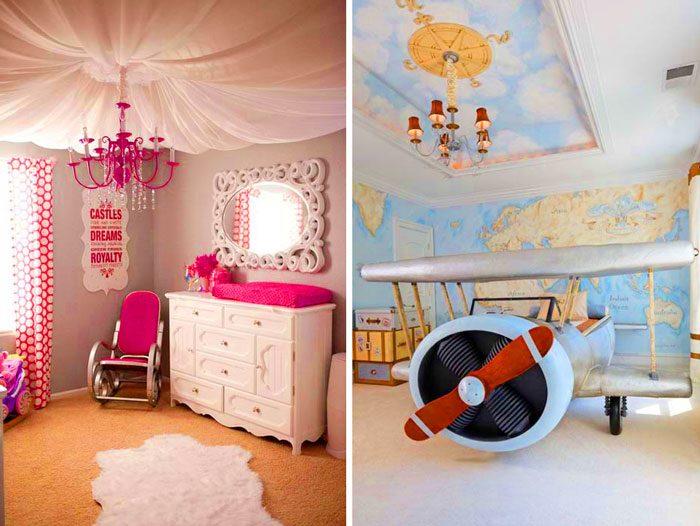 10 великолепных идей для оформления потолка в детской
