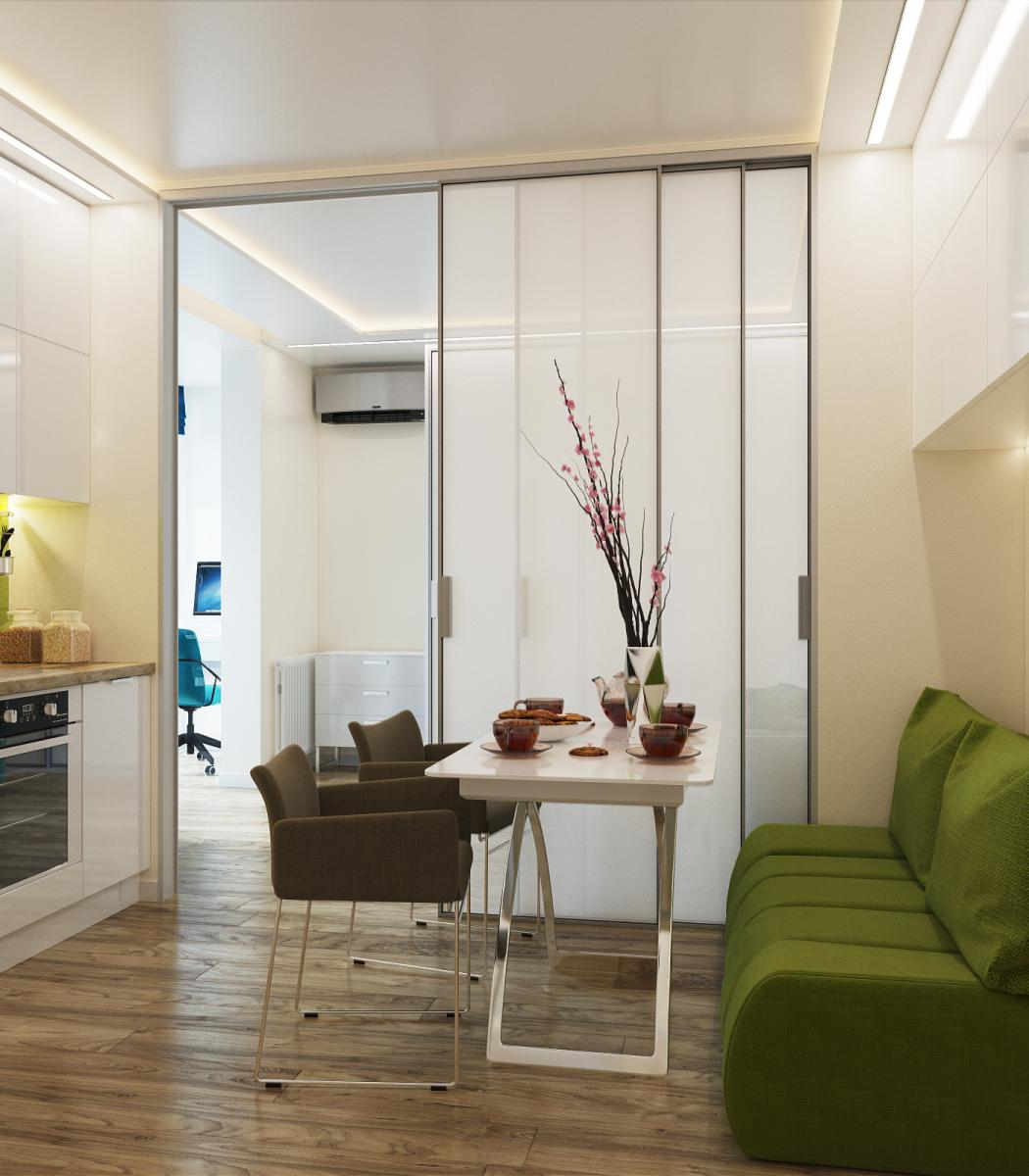 Однокомнатная квартира дизайн 33 кв