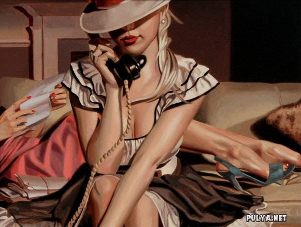 Романтичные картины художника Перегрина Хиткота.