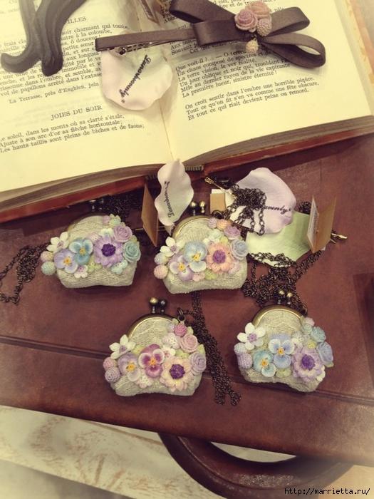Украшение и декор предметов цветочками крючком (24) (525x700, 284Kb)