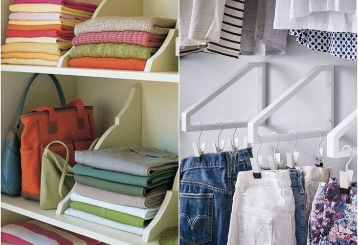 Пример, как складывать вещи в шкафу