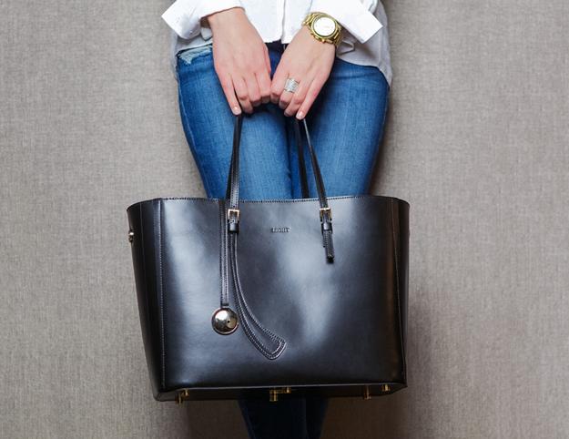 Leoht Tote - дамская сумка со встроенной зарядкой (5 фото + видео)