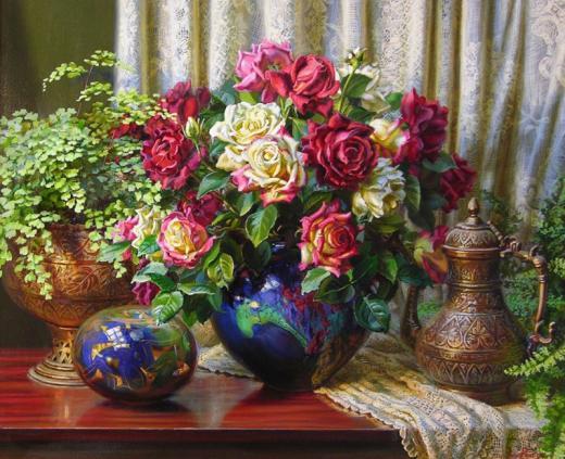Цветочные натюрморты Ann Morton