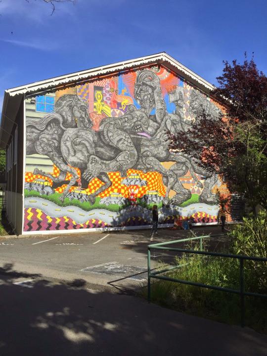 4. Росс, Калифорния, США граффити, стрит-арт, художники