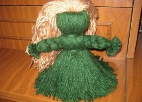Как сделать куклу из ниток