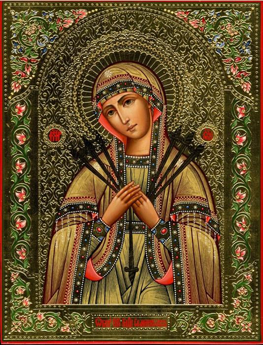 """Празднование в честь иконы Божией Матери """"Умягчение злых сердец"""" (Семистрельная )"""