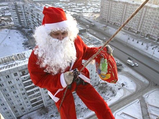 Самая опасная профессия - Дед Мороз! Очень смешная история
