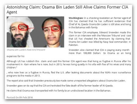 Усама Бен Ладен жив!