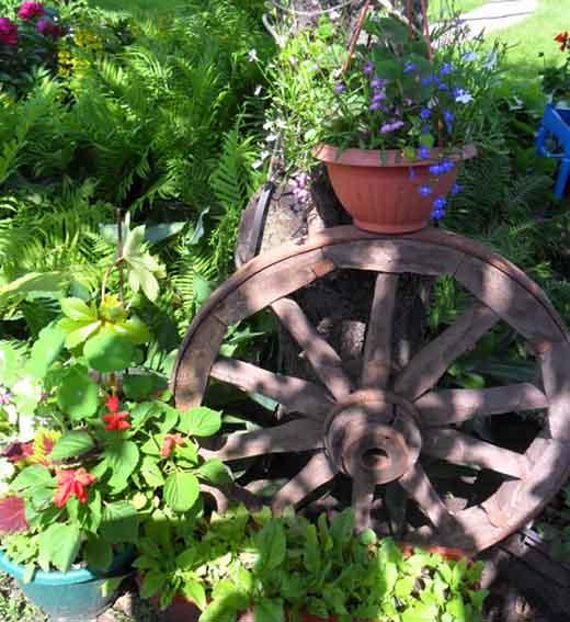 Колесо в саду