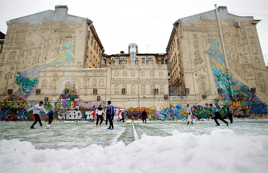 Настенная живопись в Петербурге