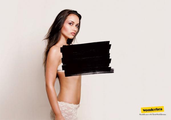 Censored, Wonderbra, Sara Lee Corporation, Печатная реклама