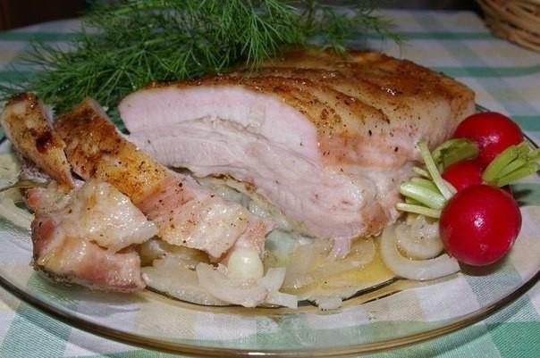 4.Грудинка Лукочесночная еда, кулинария, кулинария вторые блюда, мужская кулинария, мясные блюда, мясо