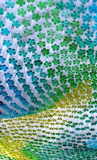 мастер-класс разноцветный навес из пластиковых бутылок своими руками
