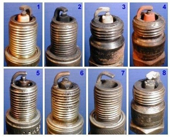 Диагностика работы двигателя по состоянию свечей