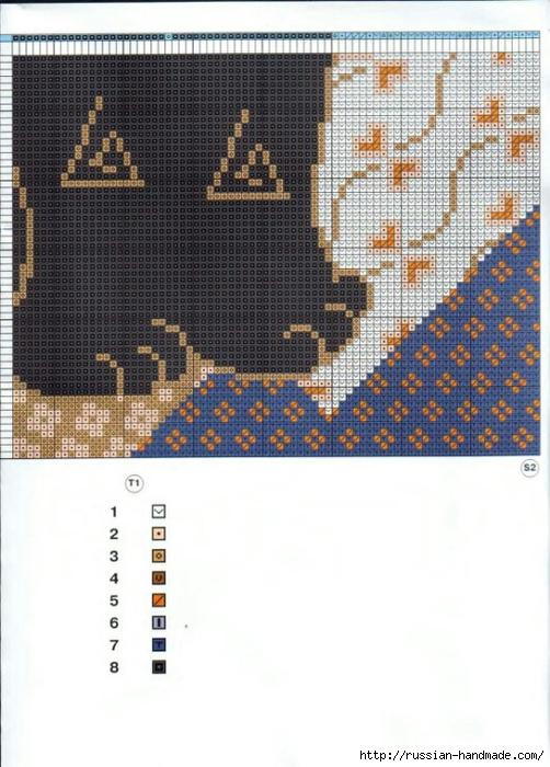 Декоративные подушки с КОШКАМИ. Вышивка крестом (6) (502x700, 265Kb)