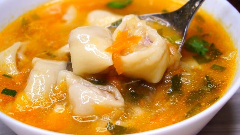 Вкусный суп с мясными рулетиками