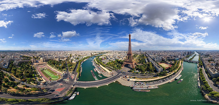 Панорама Парижа с воздуха